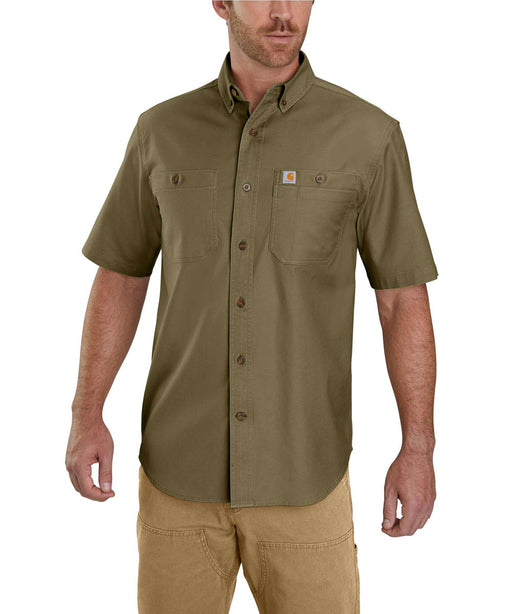 Carhartt Rugged Flex Rigby Short Sleeve Work Shirt - Military Olive at Dave's New York