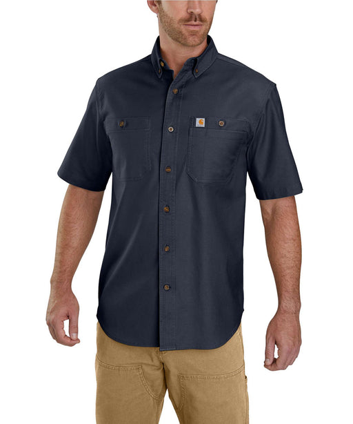Carhartt Rugged Flex Rigby Short Sleeve Work Shirt - Navy at Dave's New York