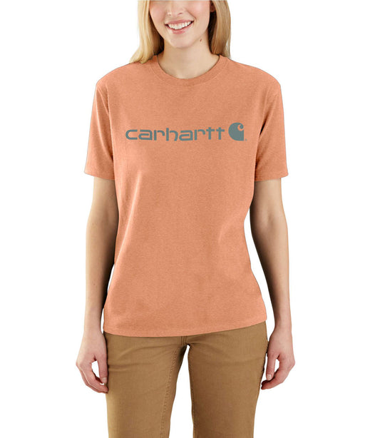 Carhartt Women's Short Sleeve Logo T-Shirt - Ginger Heather at Dave's New York