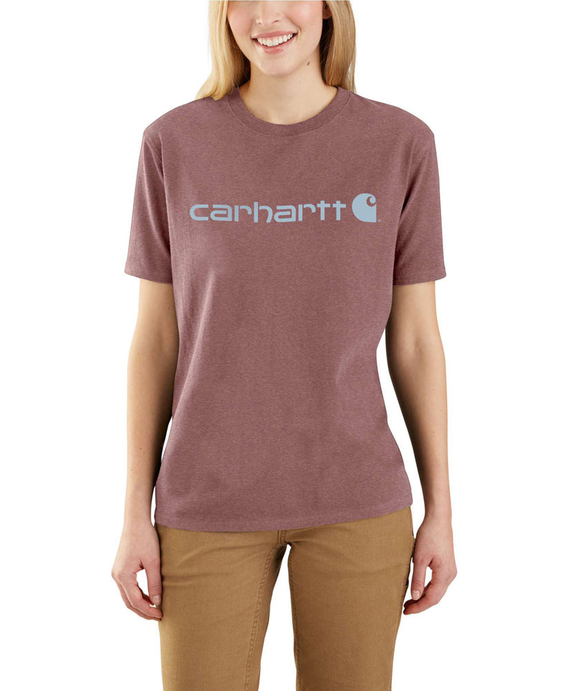 Carhartt Women's Short Sleeve Logo T-Shirt - Raisin Heather at Dave's New York