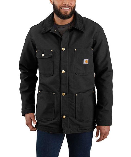Carhartt Firm Duck Chore Coat in Black at Dave's New York