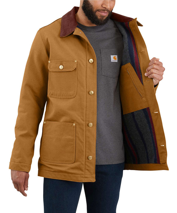 Carhartt Firm Duck Chore Coat in Carhartt Brown at Dave's New York