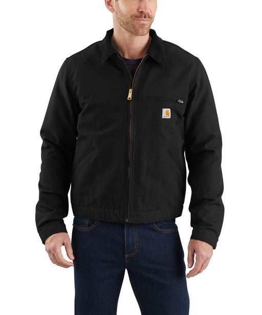 Carhartt Duck Detroit Jacket in Black at Dave's New York
