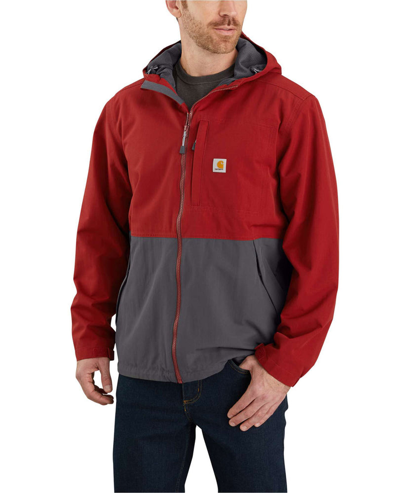 Carhartt Men's Storm Defender Hooded Jacket - Oxblood/Shadow