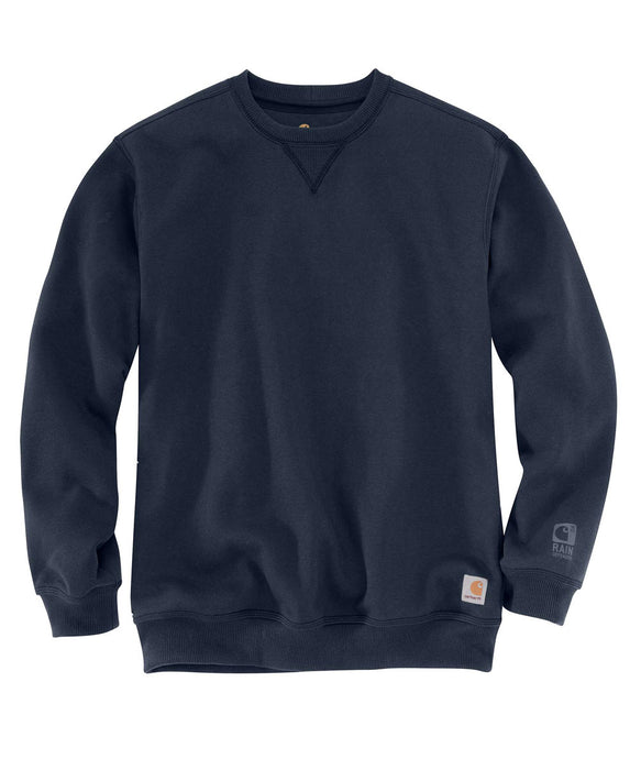 Carhartt Men's Heavyweight Paxton Rain Defender Crewneck Sweatshirt in Dark Navy at Dave's New York