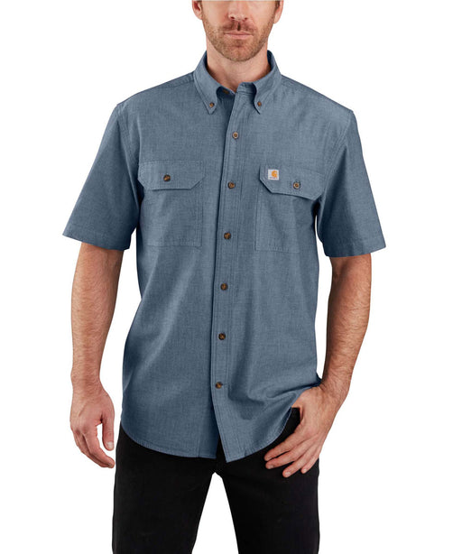 Carhartt Original Fit Short Sleeve Chambray Shirt - Denim Blue Chambray