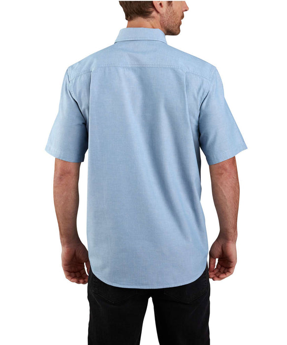 Carhartt Original Fit Short Sleeve Chambray Shirt in Chambray Blue at Dave's New York