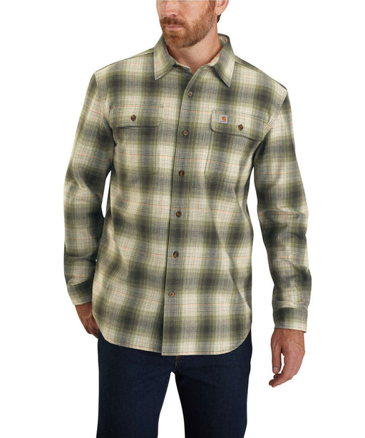 Carhartt Men's Heavyweight Original Fit Flannel Shirt - Olive at Dave's New York