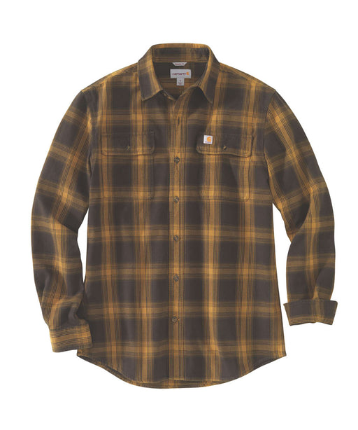 Carhartt Men's Heavyweight Original Fit Flannel Shirt - Dark Brown at Dave's New York