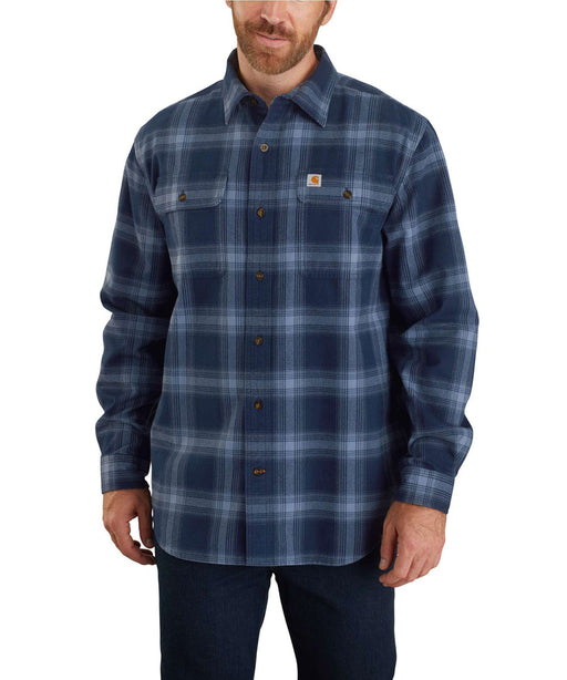 Carhartt Men's Heavyweight Original Fit Flannel Shirt - Navy at Dave's New York