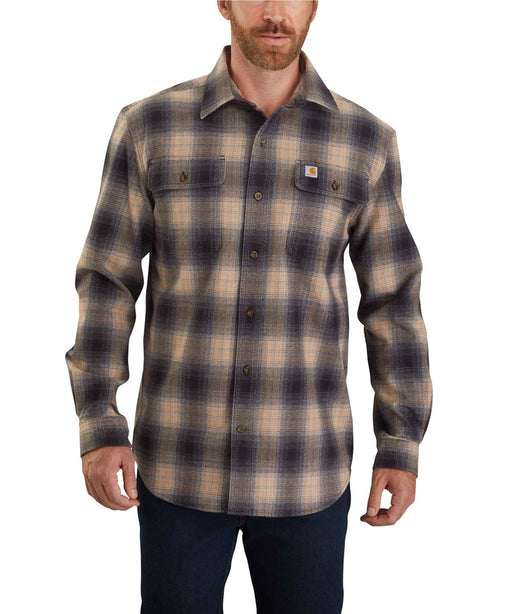 Carhartt Men's Heavyweight Original Fit Flannel Shirt - Black at Dave's New York