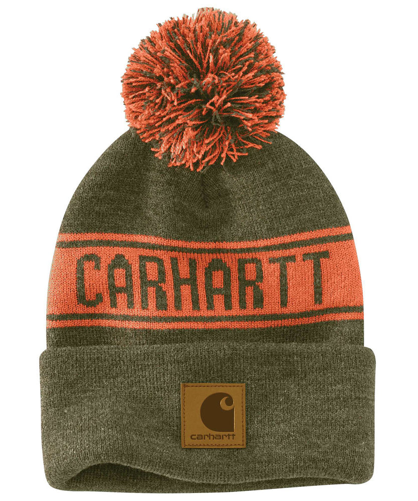 Carhartt Pom Pom Hat (Beanie) - Winter Moss at Dave's New York