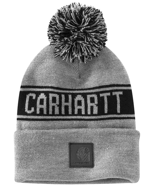 Carhartt Pom Pom Hat (Beanie) - Heather Grey at Dave's New York