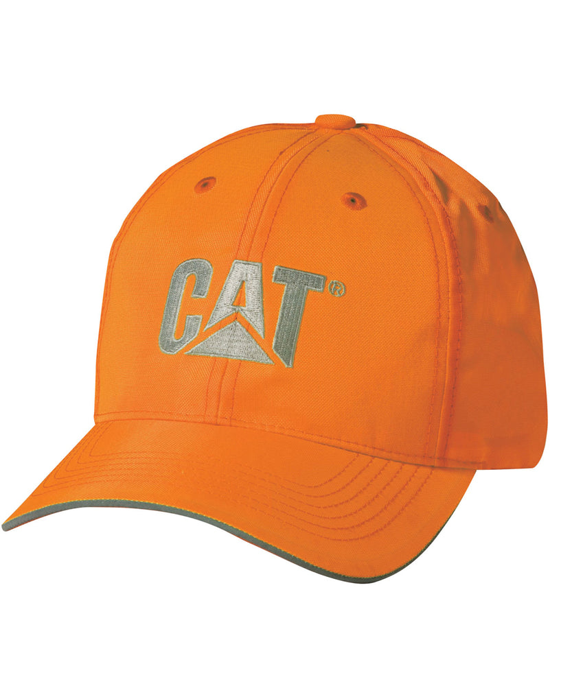 Caterpillar 1128101 Hi-Vis Trademark Cap in Bright Orange at Dave's New York
