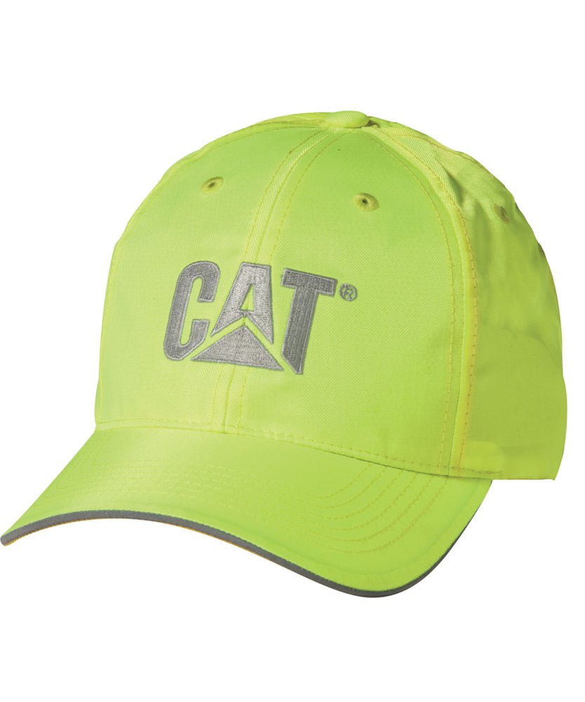 Caterpillar 1128101 Hi-Vis Trademark Cap in Bright Yellow at Dave's New York