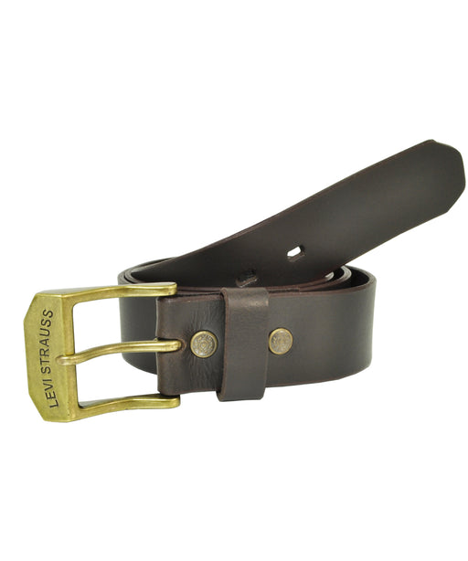 Levi's Men's Classic RIvet-Closure Belt in Brown at Dave's New York