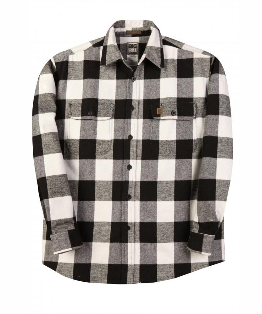 Big Bill Men's Premium Flannel Work Shirt - model 121 - Black, White