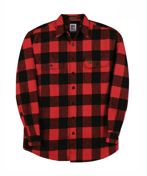 Big Bill Men's Premium Flannel Work Shirt - model 121 - Red, Black