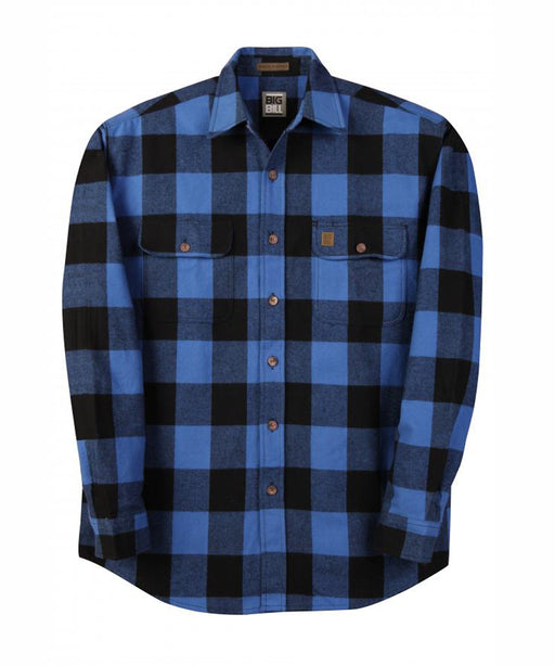Big Bill Men's Premium Flannel Work Shirt in Blue / Black Plaid at Dave's New York