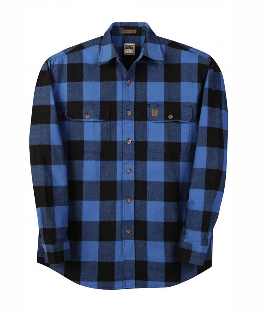 Big Bill Men's Premium Flannel Work Shirt - model 121 - Blue, Black