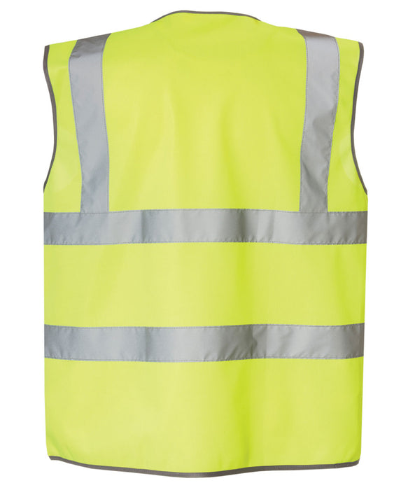 CAT ANSI Class 2 Hi-Vis Zip Safety Vest in Bright Yellow at Dave's New York