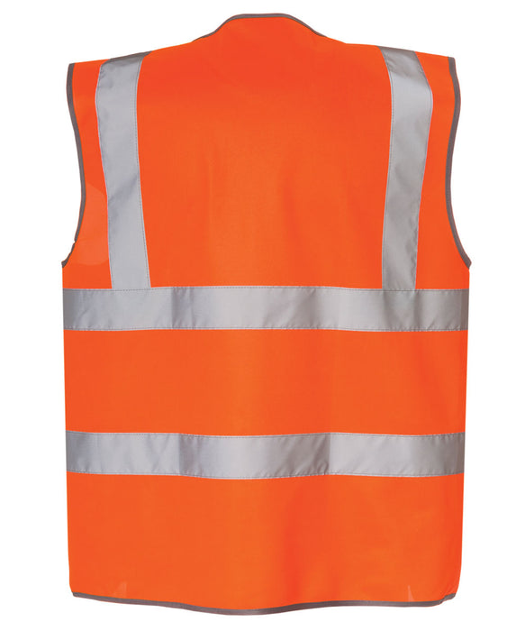 CAT ANSI Class 2 Hi-Vis Zip Safety Vest in Bright Orange at Dave's New York