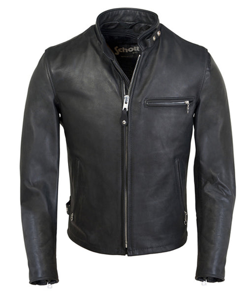 Schott 141 Classic Café Racer Leather Moto Jacket