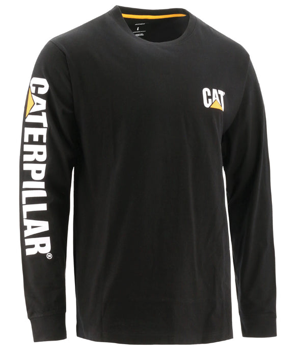 CAT Trademark Banner Long Sleeve T-shirt in Black at Dave's New York