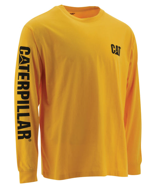 CAT Trademark Banner Long Sleeve Tee - Yellow
