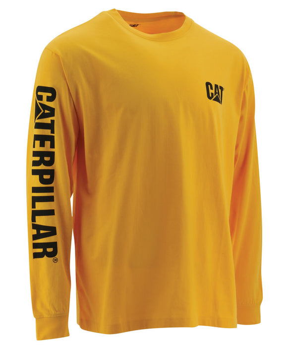 CAT Trademark Banner Long Sleeve T-shirt in Yellow at Dave's New York