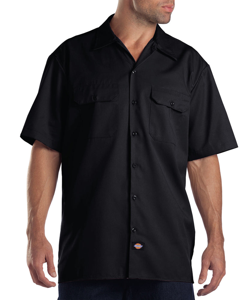 Dickies 1574 Short Sleeve Work Shirt in Black at Dave's New York