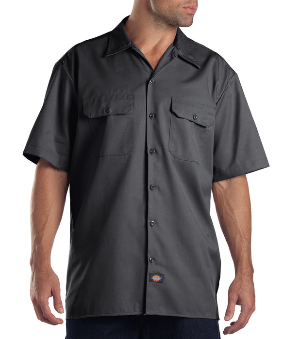 Dickies Short Sleeve Work Shirt in Charcoal at Dave's New York