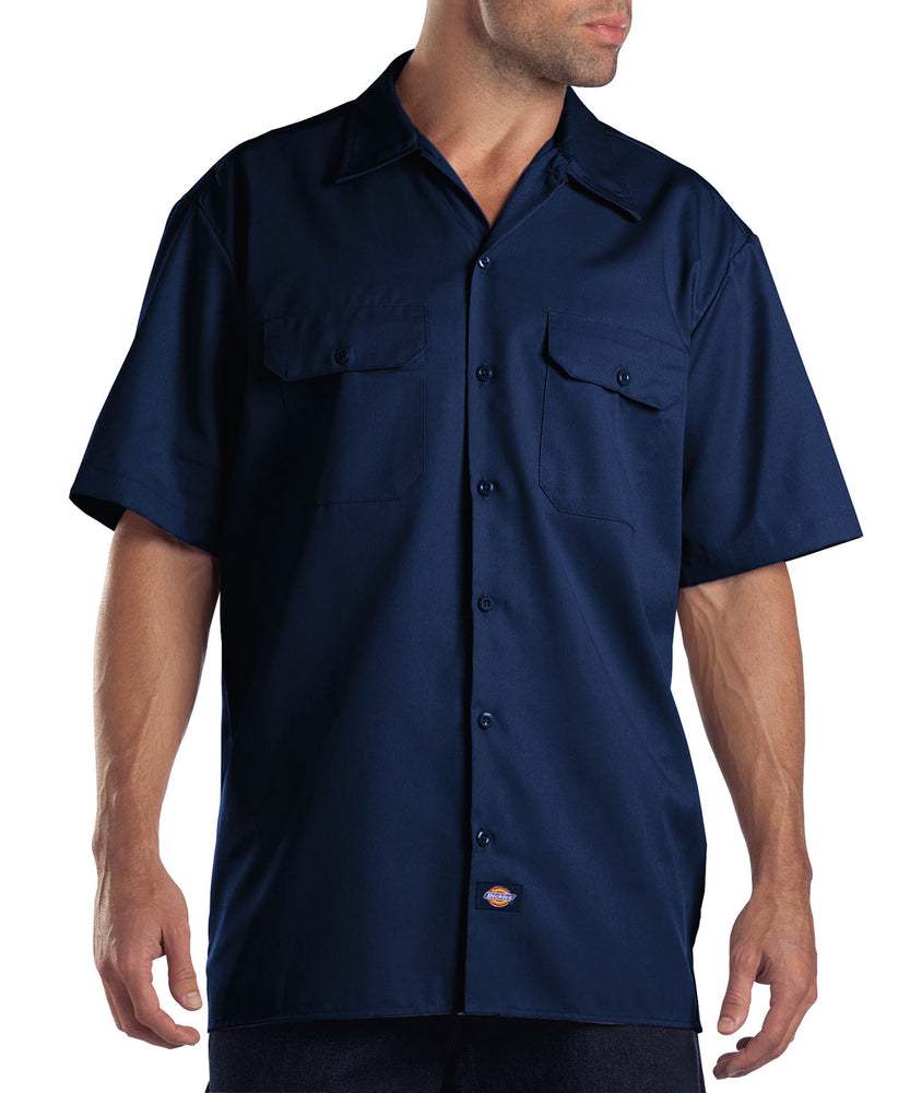 Dickies 1574 Short-Sleeve Work Shirt in Dark Navy at Dave's New York