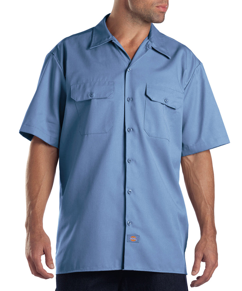 Dickies Short Sleeve Work Shirt in Gulf Blue at Dave's New York