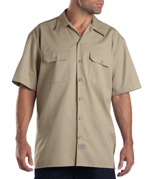 Dickies 1574 Short Sleeve Work Shirt - Khaki