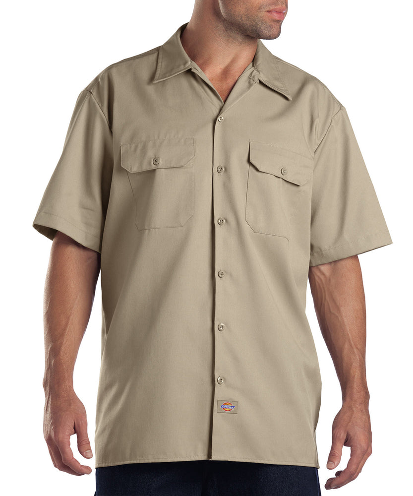 Dickies Short Sleeve Work Shirt in Khaki at Dave's New York