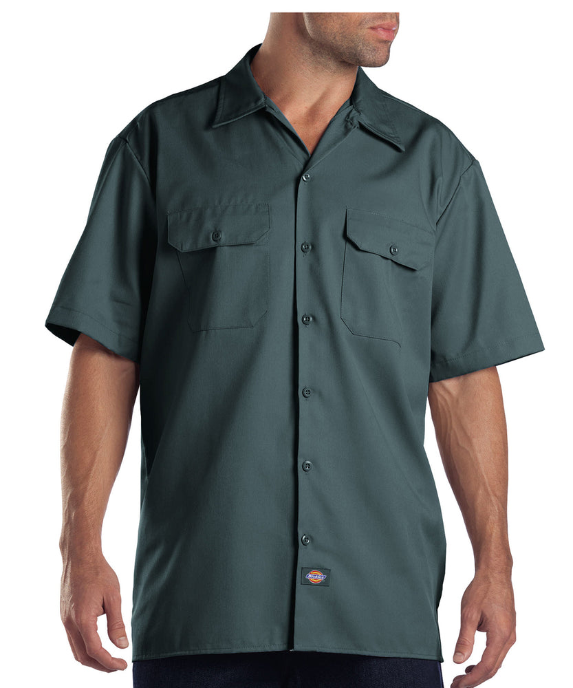 Dickies Short Sleeve Work Shirt in Lincoln Green at Dave's New York