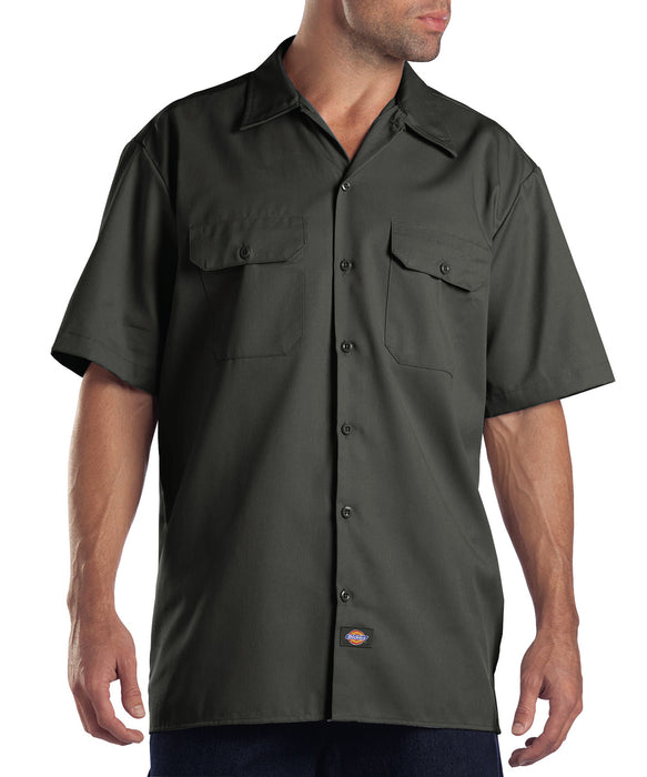 Dickies 1574 Short Sleeve Work Shirt in Olive Green at Dave's New York