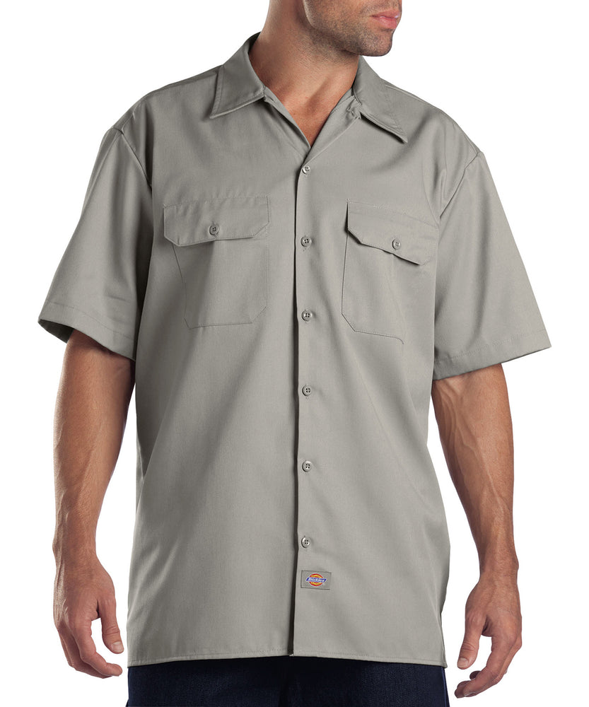 Dickies 1574 Short Sleeve Work Shirt in Silver at Dave's New York