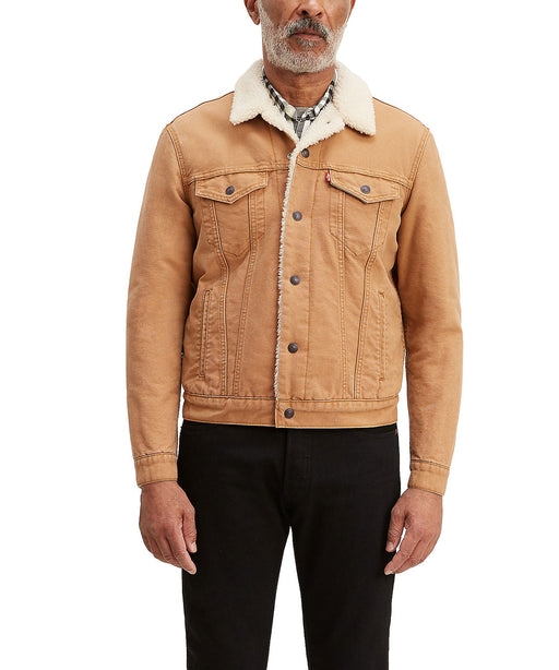 Levi Men's Sherpa Trucker Jacket - Desert Boots Canvas