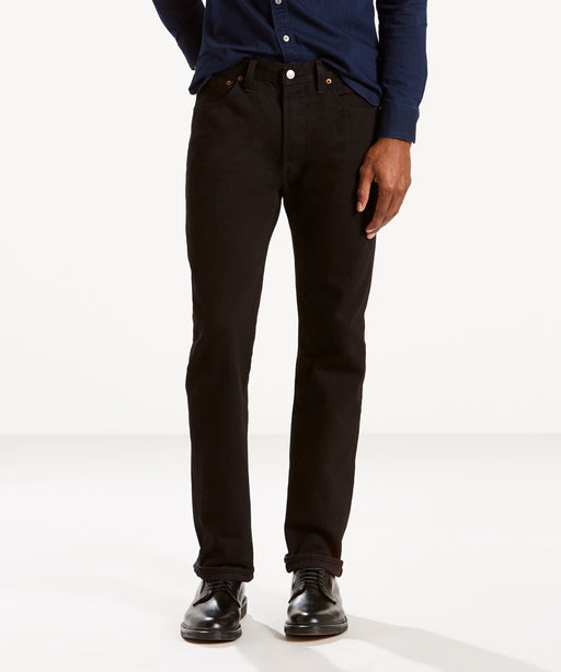 Levi's Men's 501 Original Fit Jeans - Made in the USA - Black Denim