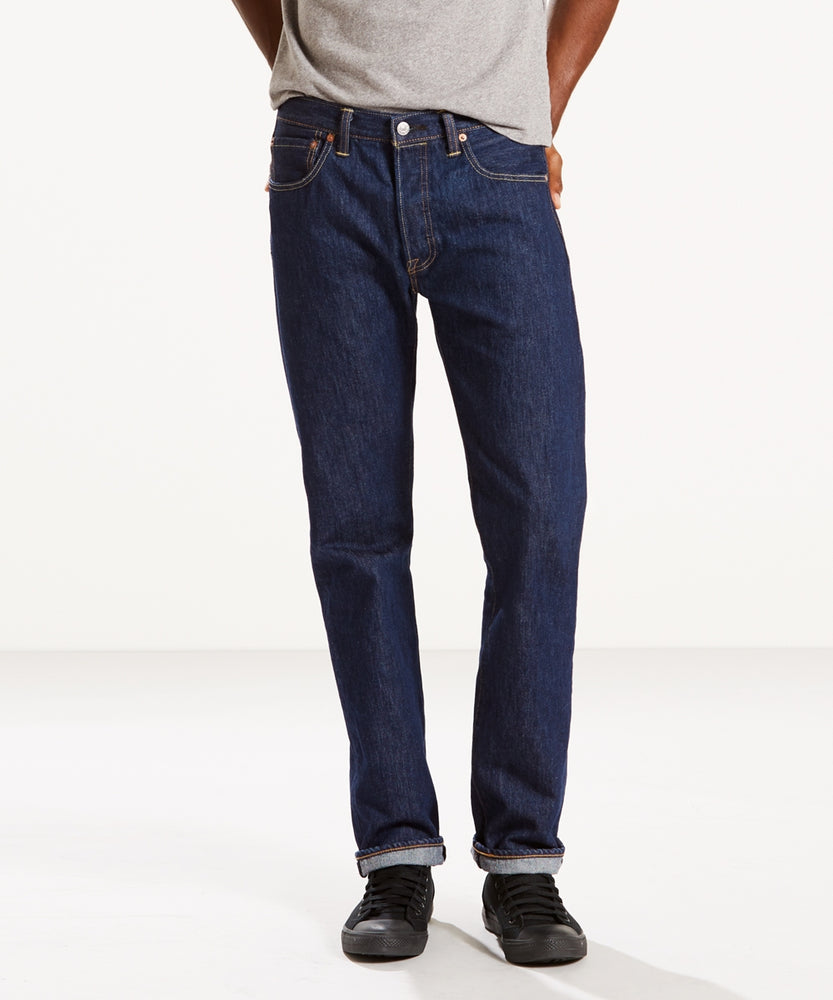 Levi's Men's 501 Original Fit Jeans – Made in the USA – Rinse Denim