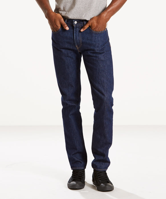 Levi's Men's 511 Slim Fit Jeans - Made in the USA - Rinse Denim