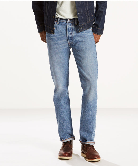 Levi's Men's 501 Original Fit Jeans (Made in the USA) in Medium Authentic at Dave's New York