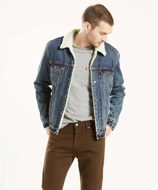 Levi's Sherpa Lined Denim Trucker Jacket – Go Set