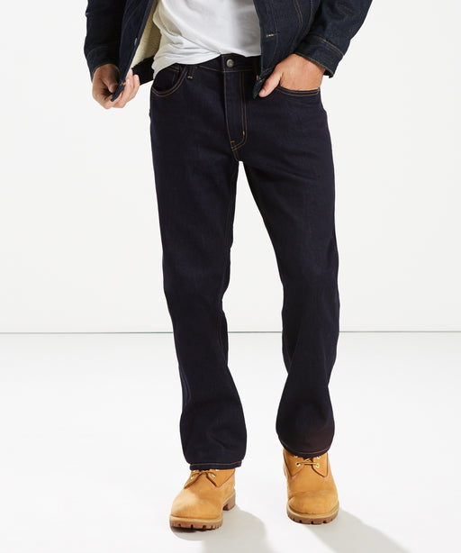 Levi's Men's 505 Regular FIt, 5-Pocket Workwear Jeans in Indigo Rinse at Dave's New York