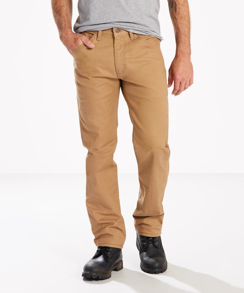 Levi's Men's 505 Regular Fit Utility Workwear Pants in Ermine Canvas at Dave's New York