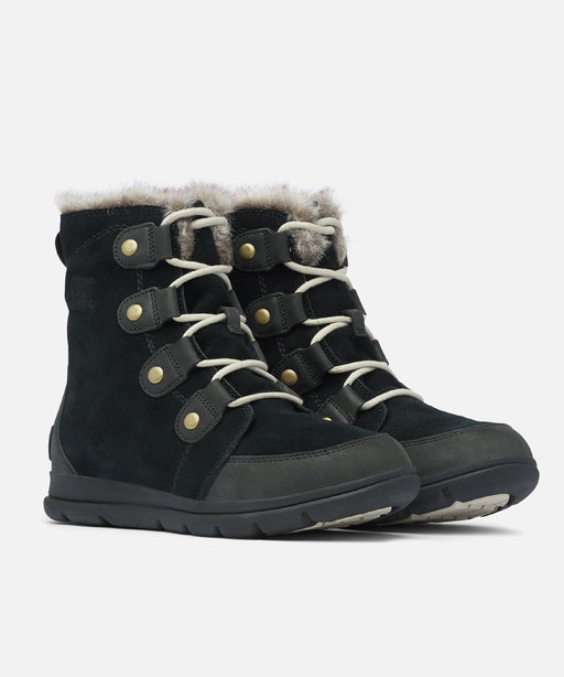 Sorel Women's Explorer Joan Winter Boots in Black at Dave's New York