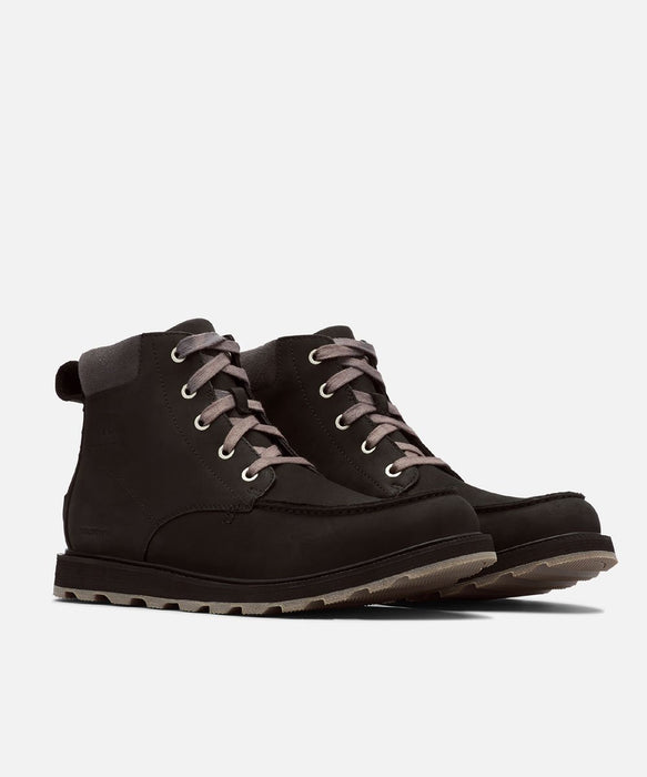 Sorel Men's Madson Moc Toe Waterproof Boots - Black