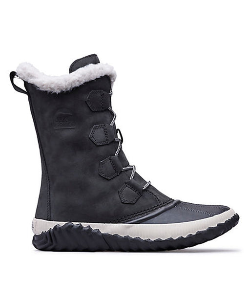 Sorel Women's Out N' About Plus Tall Winter Boots in Black at Dave's New York